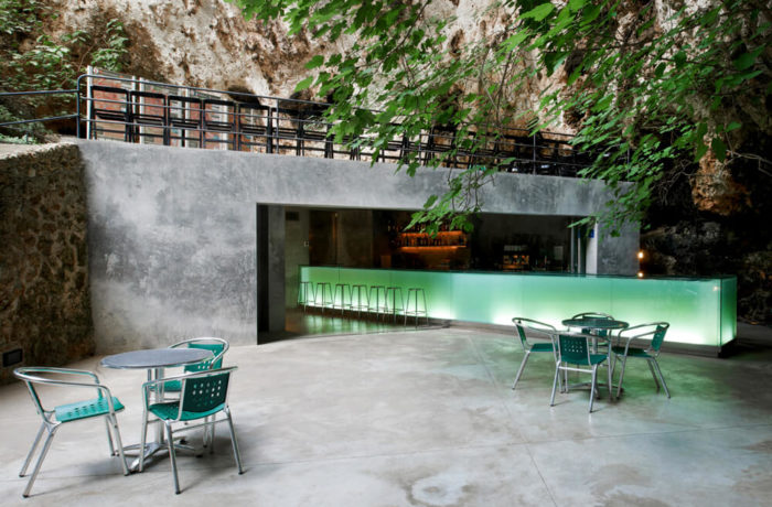 Bar in the Caves of Porto Cristo, Majorca, Spain, A2arquitectos