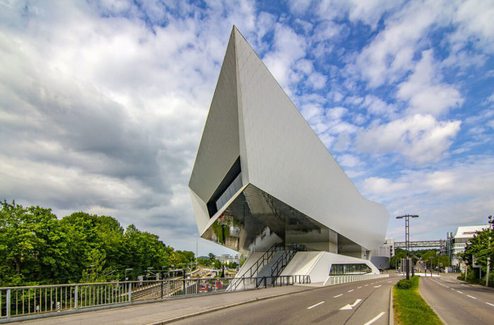 Porsche Museum, Stuttgart, Germany, Delugan Meissl Associated Architects
