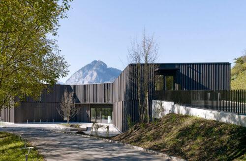 Library-Game Library & Municipality Administration in Spiez, Spiez, Switzerland, Bauzeit Architekten